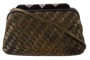 Judith Leiber Woven Satin Evening Bag