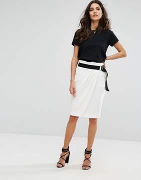 BA&SH Belted Pencil Skirt