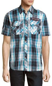 Affliction Quick Fix Cotton Casual Button Down Shirt