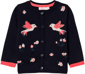 Billieblush Navy Bird and Floral Knitted Cardigan