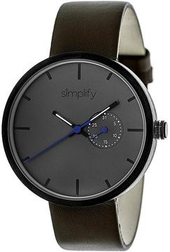 Simplify The 3900 Collection SIM3906 Unisex Watch with Leather Strap