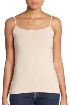 Saks Fifth Avenue BLACK Basic Stretch-Cotton Camisole