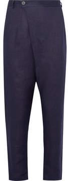 Isabel Benenato Asymmetric Linen Trousers