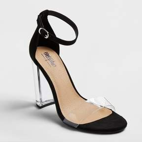 Mossimo Women's Holly Lucite Block Heel Sandal Pumps