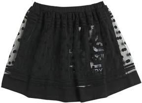 Diesel Cotton Jersey & Tulle Devore Skirt