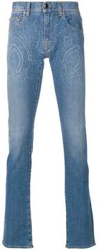 Etro printed slim leg jeans