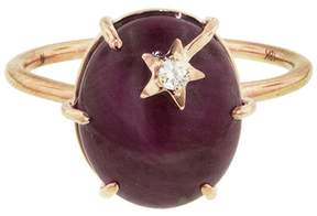 Andrea Fohrman Mini Star Ruby Ring - Rose Gold