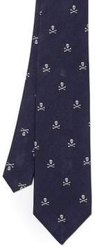 J.Mclaughlin Silk Tie in Skull