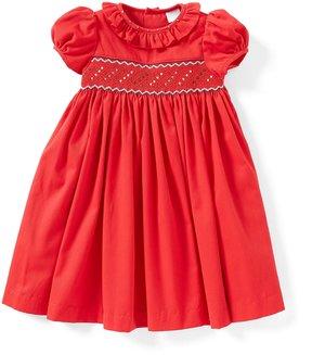 Edgehill Collection Little Girls 2T-6X Smocked Short-Sleeve Dress