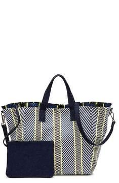 Steve Madden Mixed Straw Tote Bag