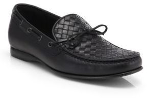 Bottega Veneta Wave Intrecciato Leather Drivers