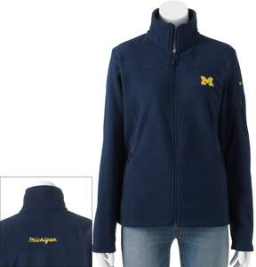 Columbia Women's Michigan Wolverines Give And Go Microfleece Jacket
