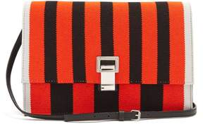 Proenza Schouler Lunch Striped Leather Small Cross Body Bag - Womens - Black Red