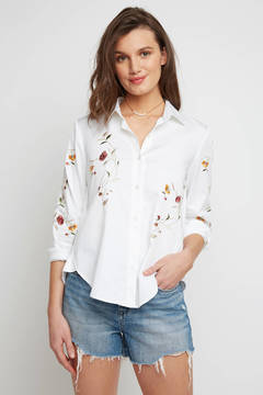 Blank Embroidered Tie Back Shirting