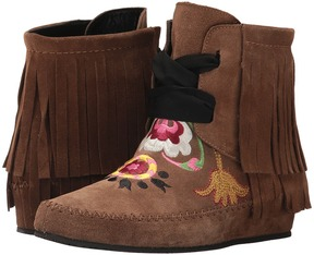 Etro Embroidered Fringe Bootie Women's Boots