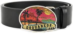 DSQUARED2 embellished Hawaii buckle belt