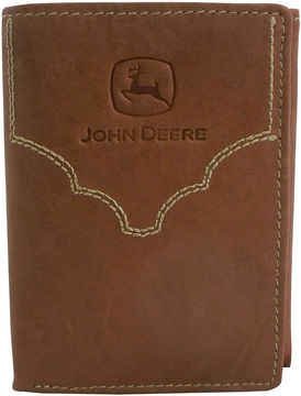 Asstd National Brand John Deere Leather Trifold Wallet