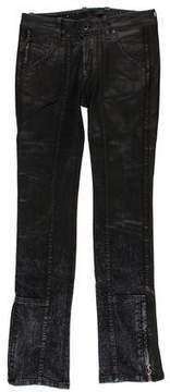 Diesel Black Gold Distressed Mid-Rise Jeans