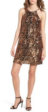 Everly Women's Sequined High Neck Dress