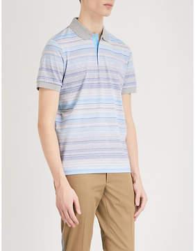 BOSS GREEN Striped cotton-jersey polo shirt