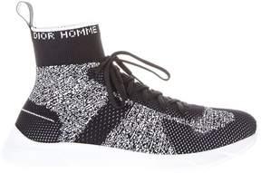 Christian Dior Elastic Fabric High Top Sneakers