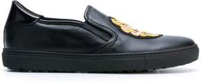 Roberto Cavalli logo patch loafers