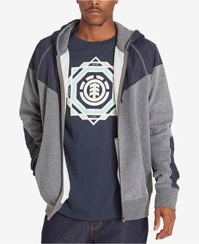 Element Men's Steel Colorblocked Zip-Front Hoodie