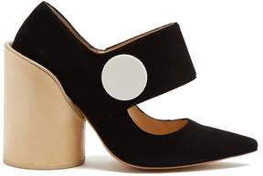 Jacquemus Les Chaussures Gros Boutons suede pumps