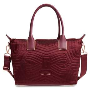 Ted Baker Akebia Quilted Bow Small Nylon Tote