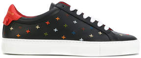 Givenchy embroidered lace-up sneakers