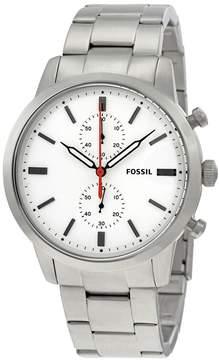 Fossil Townsman Chronograph White Dial Men's Watch