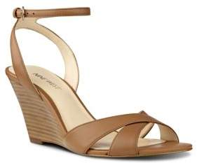 Nine West Kami Leather Wedge Sandals