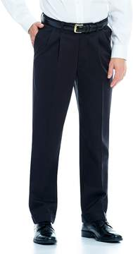 Roundtree & Yorke Big & Tall Travel Smart Non-Iron Stretch Pleated Classic Fit Ultimate Comfort Chino Pants