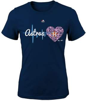 Majestic Girls 7-16 Houston Astros Heart Beat Tee