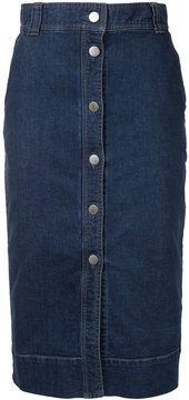 ESTNATION buttoned denim skirt