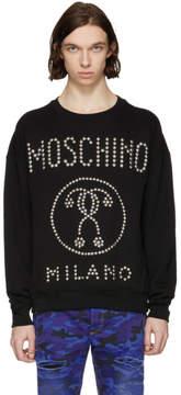 Moschino Black Studded Logo Sweatshirt
