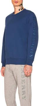 Burberry Kentley Embroidered Sleeve Crew Neck