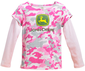 John Deere Pink Camo Layered Top - Infant