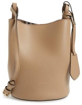 Burberry Small Lorne Leather Bucket Bag - Beige - BEIGE - STYLE