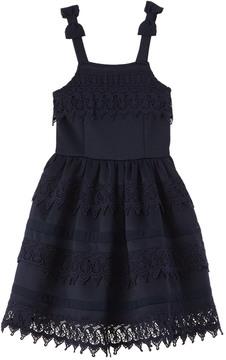 Nanette Lepore Shiny Ponte Navy Dress