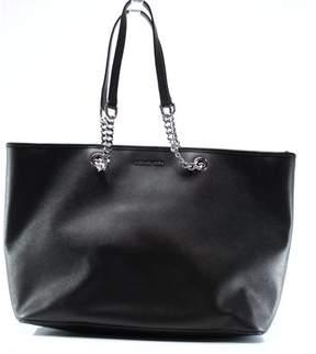 43cba0b21899a Michael Kors NEW Black Saffiano Jet Set Travel Chain Tote Bag Purse - BLACK  - STYLE