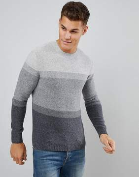 Benetton United Colors of BenettonWool Mix Sweater In Tonal Color Block