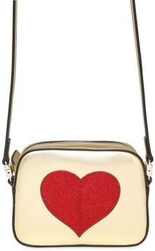 Gucci Faux Leather Shoulder Bag W/ Heart
