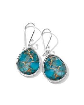 Ippolita Wonderland Mini Turquoise Teardrop Earrings