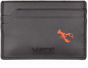 Lanvin Lobster Print Card Holder