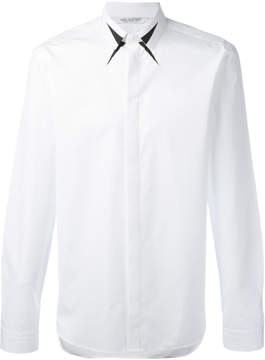 Neil Barrett geometric detail collar shirt