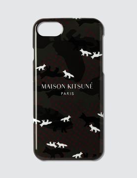 MAISON KITSUNÉ All-Over Camo Fox Iphone 7 Case