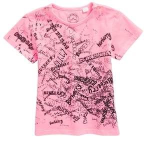 Burberry Mini Rea Scribble Logo Tee