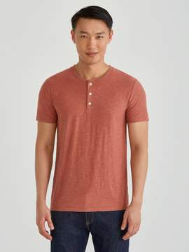 Frank and Oak Loose Fit Reverse Slub Tee in Rustic Brown