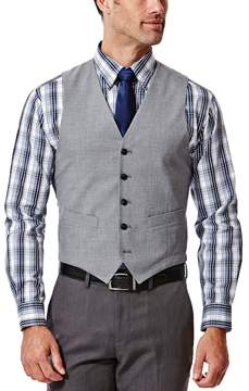 Haggar Men's Slim-Fit Heathered Light Gray Suit Vest